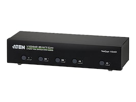 Aten 4 Port VGA Audio Switch, VS0401, 15222087, Switch Boxes - AV