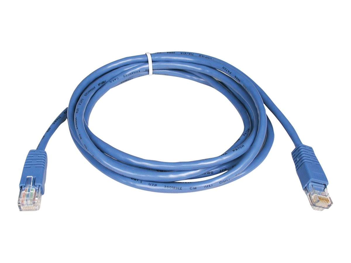 Tripp Lite Cat5e RJ-45 M M 350MHz Molded Patch Cable, Blue, 5ft