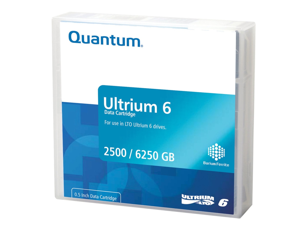 Quantum 2.5TB 6.25TB LTO-6 Data Cartridges, MR-L6MQN-05