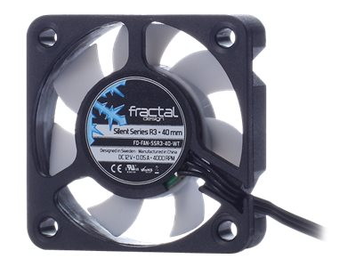 Fractal Design Silent Series R3 40mm Fan, FD-FAN-SSR3-40-WT