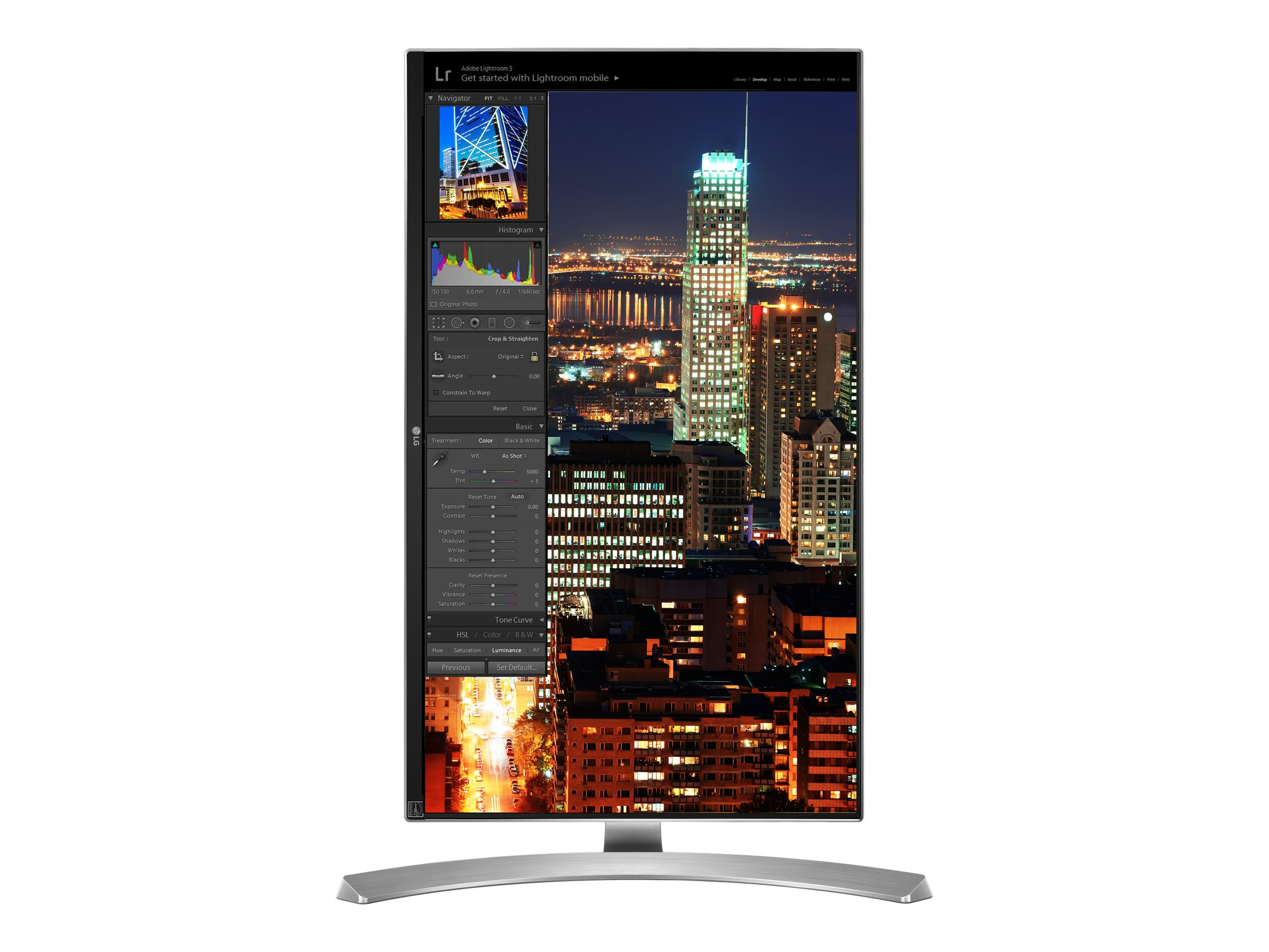 LG 27 MU88-W 4K Ultra HD LED-LCD Monitor, Silver