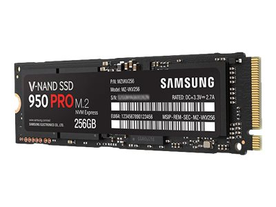 Samsung 256GB SSD 950 Pro PCIe 3.0 NVMe M.2 2280 Internal Solid State Drive, MZ-V5P256BW, 30785304, Solid State Drives - Internal