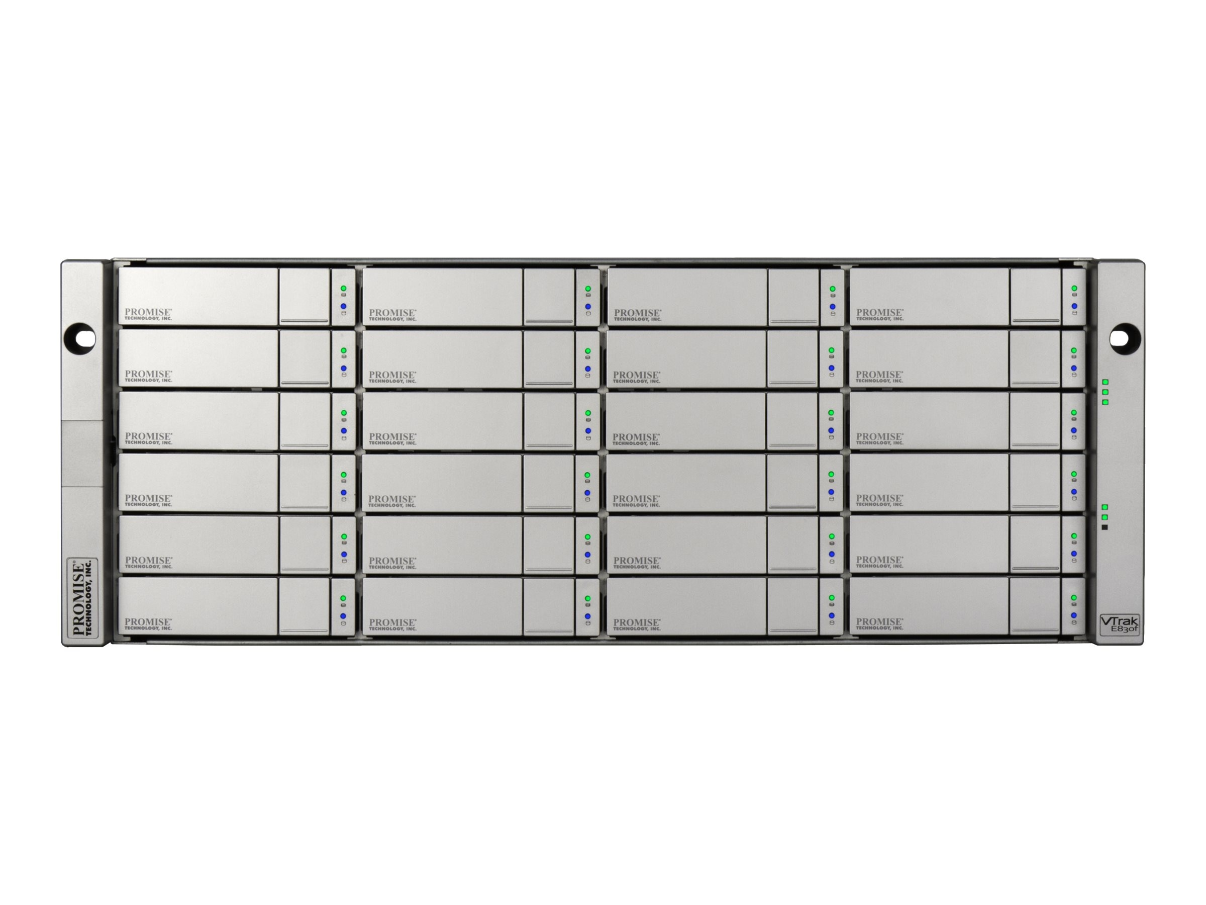 Promise 24-bay 4U SAS 6Gb s Dual Controller JBOD Enclosure w  (24) 4TB 7200 RPM SAS NL Hard Drives