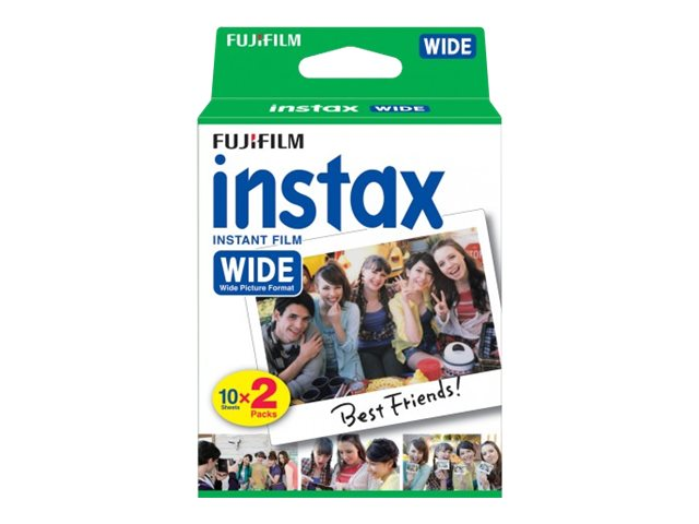 Fujifilm Wide Instant Color Print Film for Instax 200 210 300, ISO 800, 2-Pack, 16468498, 31801388, Camera & Camcorder Accessories