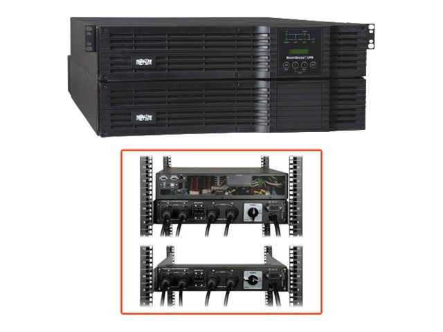 Tripp Lite 6000VA UPS Smart Online Rack Tower 6kVA 120-240V for Blade Server, SU6000RT4U, 6606273, Battery Backup/UPS