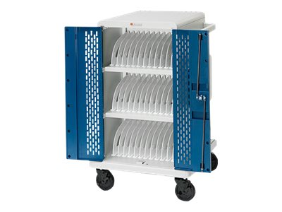 Bretford Manufacturing 36-Unit Chromebook Charging Cart with Locking Doors, 90 Degree Outlet