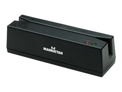 Manhattan USB Magnetic Strip Card Reader, Black