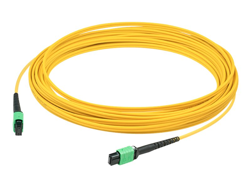 ACP-EP OS1 Fiber Patch Cable, MPO-MPO, 9 125, Single-Mode, Duplex, Yellow, 50m, ADD-MPOMPO-50M9SM