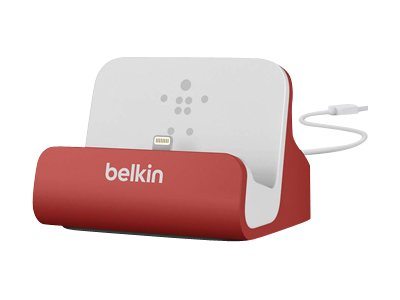 Belkin Mixit ChargeSync Dock for iPhone 5 6 6 Plus, Red, F8J045BTRED