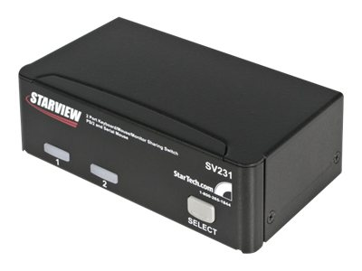 StarTech.com 2-Port StarView KVM Switch PS 2+Serial