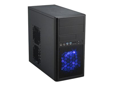 Rosewill Chassis, Line-M Mini Tower MicroATX 3x3.5 Bays 2x5.25 Bays 5xSlots 2xFans, LINE-M, 16653831, Cases - Systems/Servers