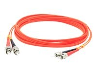ACP-EP ST-ST 62.5 125 OM1 Multimode LSZH Duplex Fiber Cable, Orange, 40m
