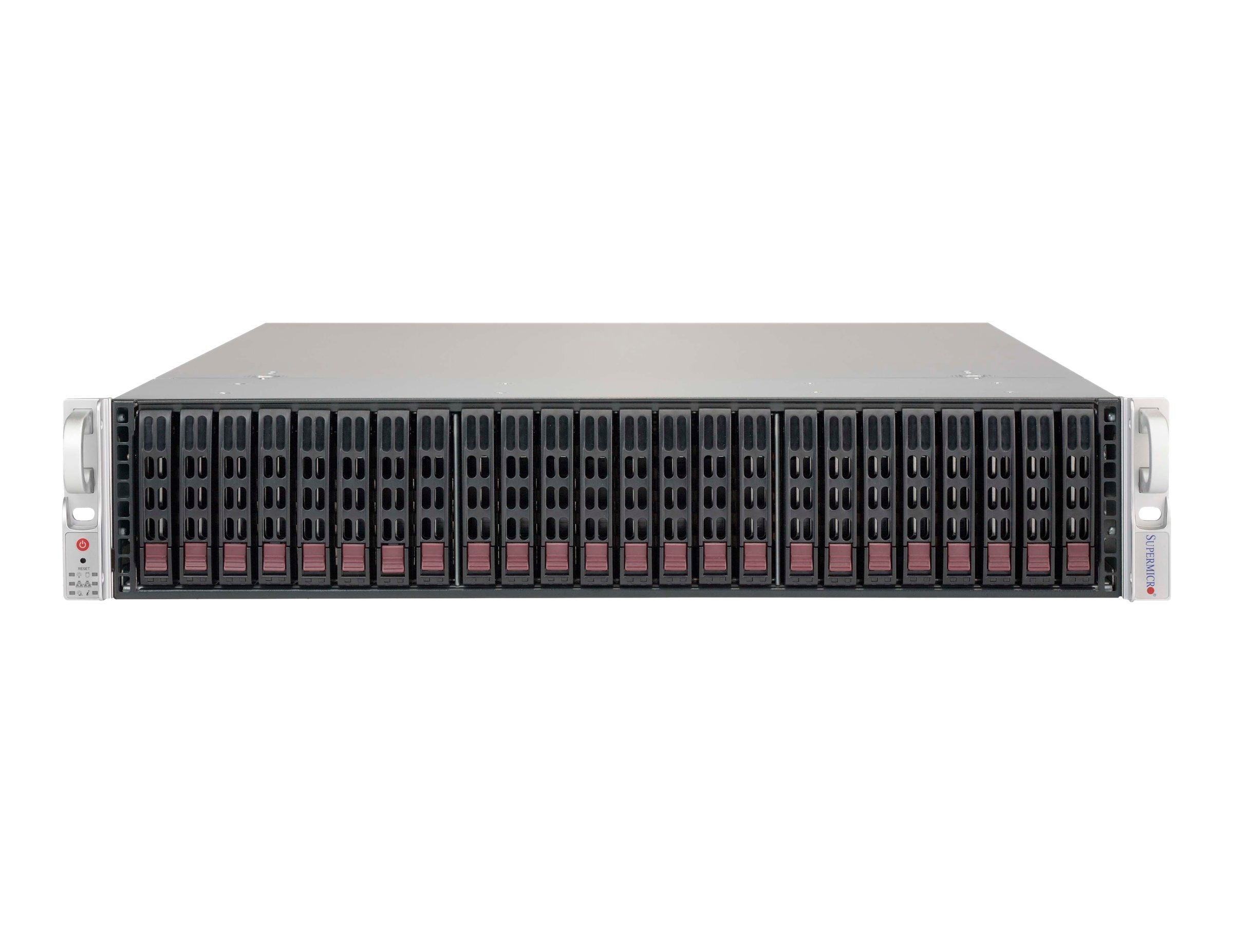 Supermicro Chassis, SuperChassis 216BE2C-R741JBOD 2U RM 24x2.5 HS Bays 2x740W, Black, CSE-216BE2C-R741JBOD, 31862990, Cases - Systems/Servers