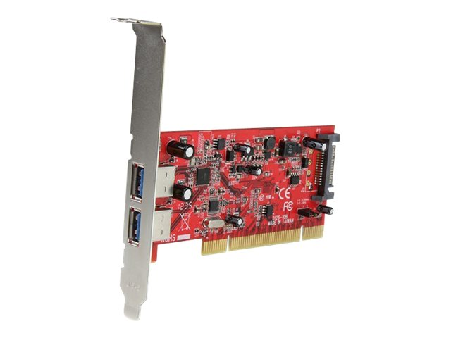 StarTech.com 2-Port PCI SuperSpeed USB 3.0 Adapter Card with SATA Power, PCIUSB3S22