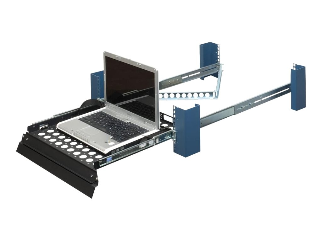 Innovation First Rackmount Sliding Laptop Shelf Supports 15 17 19 LCD Monitor