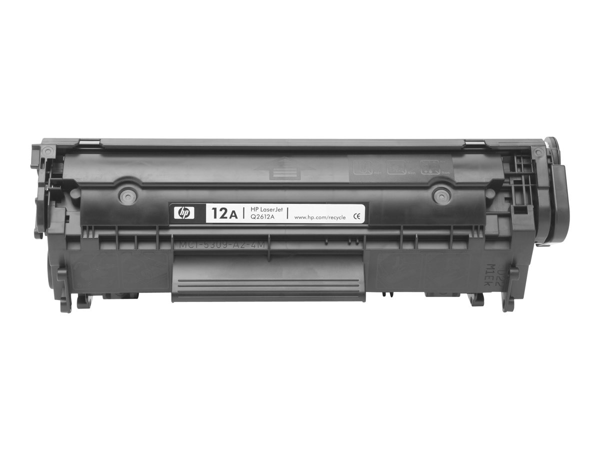 HP 12A (Q2612A) Black Original LaserJet Toner Cartridge for HP LaserJet 1012, 100, 1022n, 3015 & 3030, Q2612A, 464320, Toner and Imaging Components