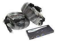 C2G 2-Port UXGA Monitor Splitter Extender With 2 100ft Pro Series HD15 M-M UXGA Monitor Cables