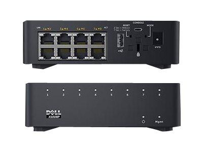 Dell X1008P Smart Web Managed Switch 8X 1GBE POE PT, 463-5908, 20337647, Network Switches