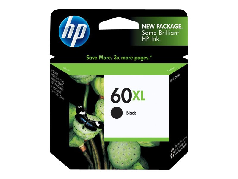 HP 60XL (CC641WN) High Yield Black Original Ink Cartridge