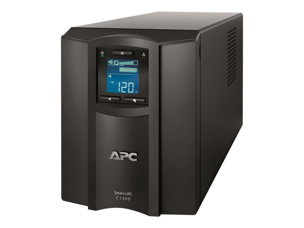 APC Smart-UPS C 1500VA 900W 120V LCD Tower USB UPS, SMC1500, 14008062, Battery Backup/UPS