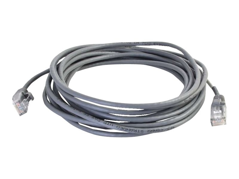 C2G Cat5e Snagless Unshielded (UTP) Slim Network Patch Cable - Gray, 8ft
