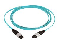 Panduit MTP to MTP 50 125 OM3 Multimode Plenum Fiber Optic Cable, Aqua, 35ft