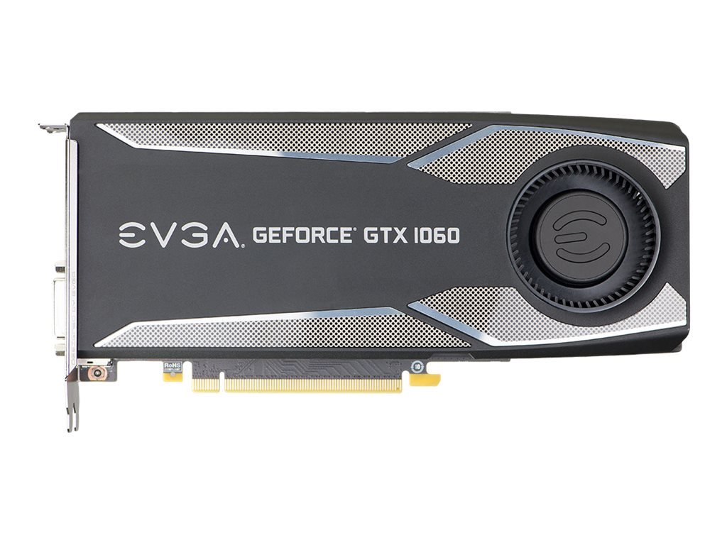 eVGA GeForce GTX 1060 PCIe 3.0 Graphics Card, 6GB GDDR5, 06G-P4-5161-KR