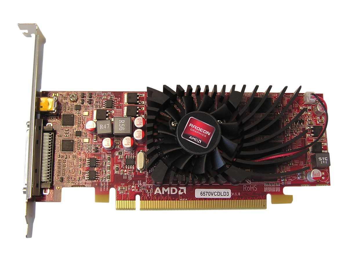 Jaton Radeon HD 6570 PCIe 2.1 x16 Graphics Card, 1GB DDR3, VIDEO-PX369-QUAD