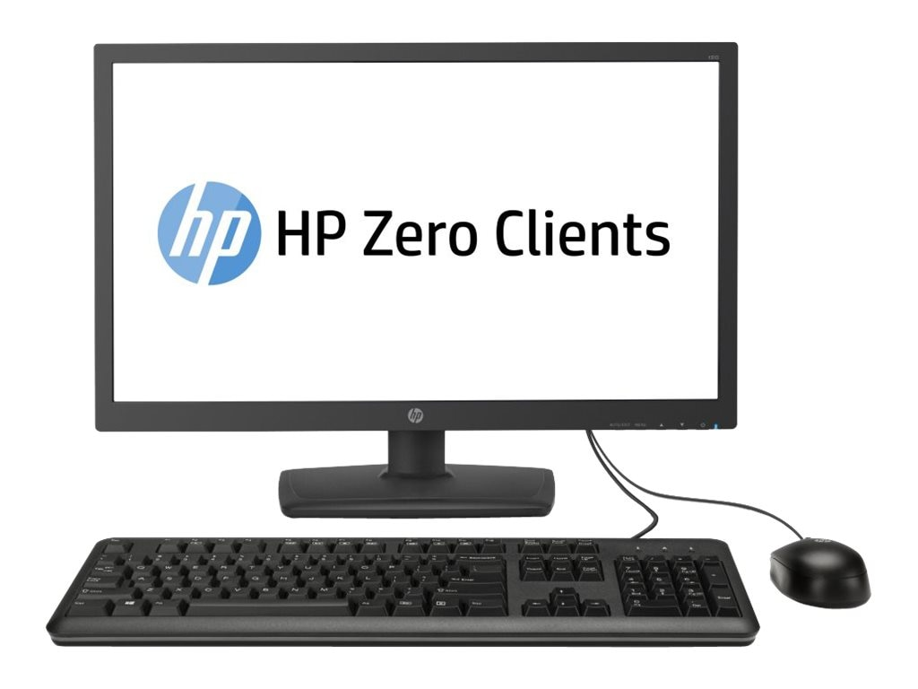 HP Smart Buy t310 AIO Zero Client PCoIP TERA2321 512MB RAM 32MB Flash GbE 23.6 LED NoOS, J2N80AT#ABA, 17808612, Thin Client Hardware