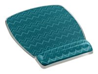 3M Clear Gel Mousepad and Wrist Rest, Green Chevron Design