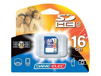 Dane Electronics 16GB SD Card, DA-SD-16GB-R, 13532971, Memory - Flash