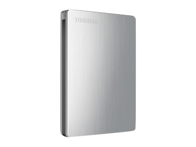 Toshiba 1TB Canvio Slim II USB 3.0 Portable Hard Drive for PCs - Silver, HDTD210XS3E1, 16019224, Hard Drives - External