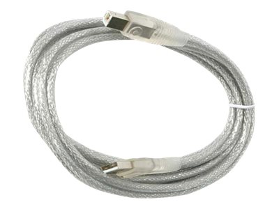 StarTech.com USB 2.0 Cable, USB A Male to USB B Male, transparent, 15 ft, USB2HAB15T