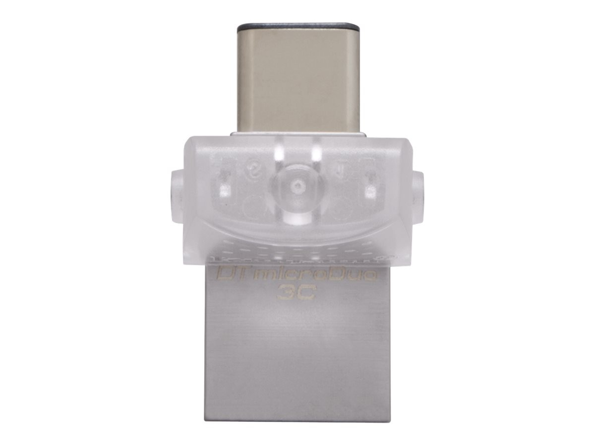 Kingston 64GB DataTraveler microDuo 3C USB 3.1 Type-C Flash Drive, DTDUO3C/64GB