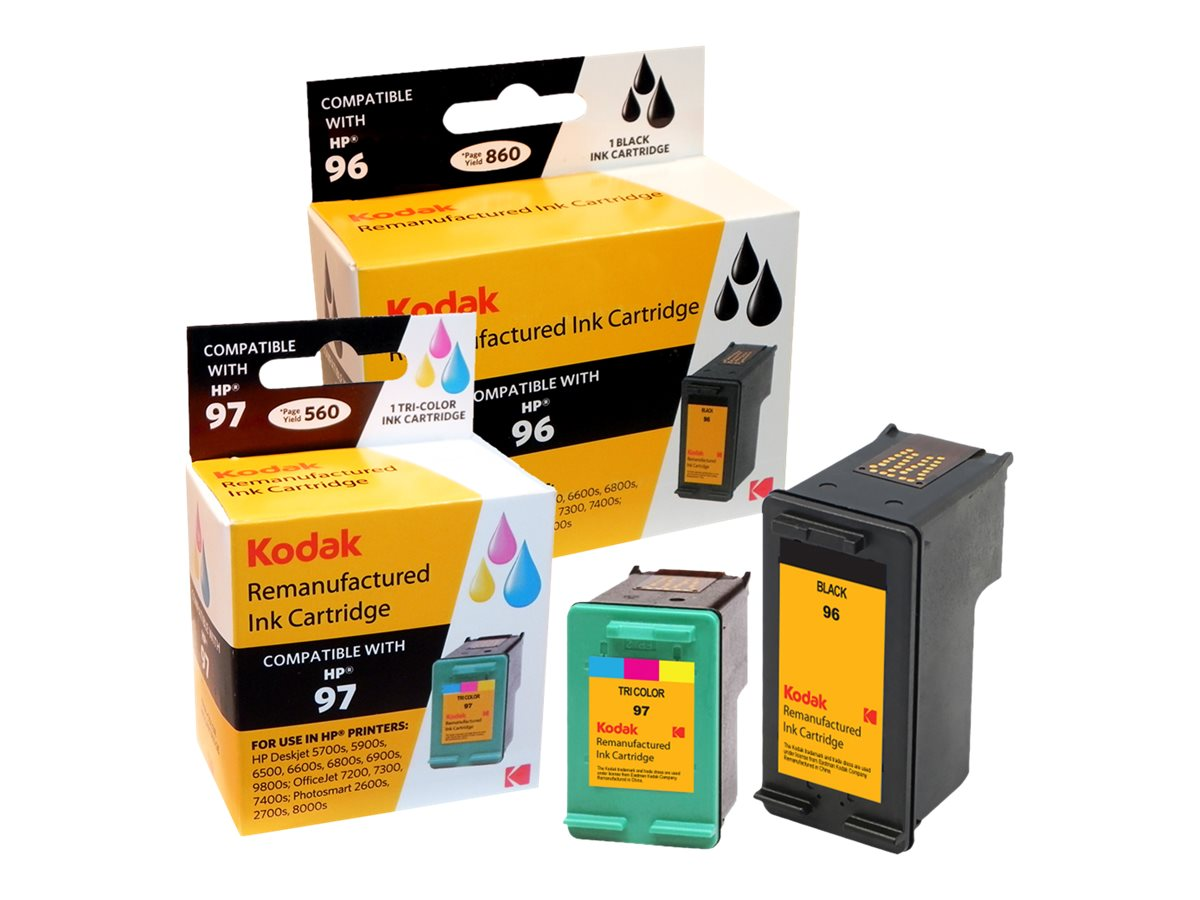 Kodak C9353FN Black Tri-Color Ink Cartridges for HP, C9353FN-KD