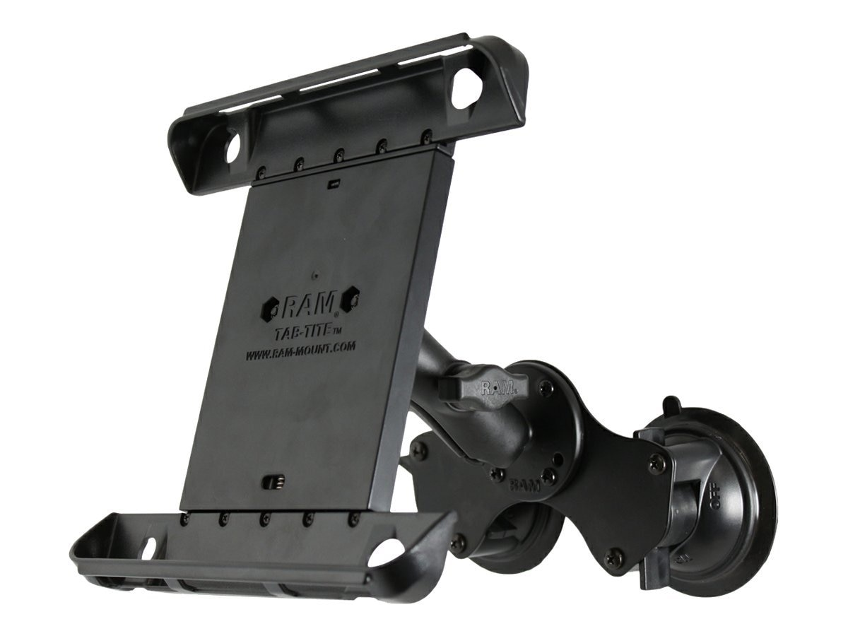 Ram Mounts Double Twist Lock Suction Cup Mount with Tab-Tite Universal Clamping Cradle for iPad