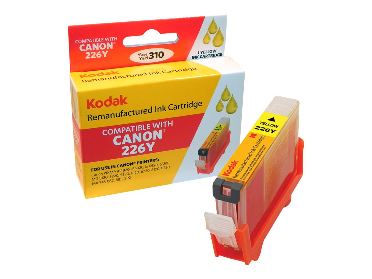 Kodak 4549B001 Yellow Ink Cartridge for Canon, CLI-226Y-KD