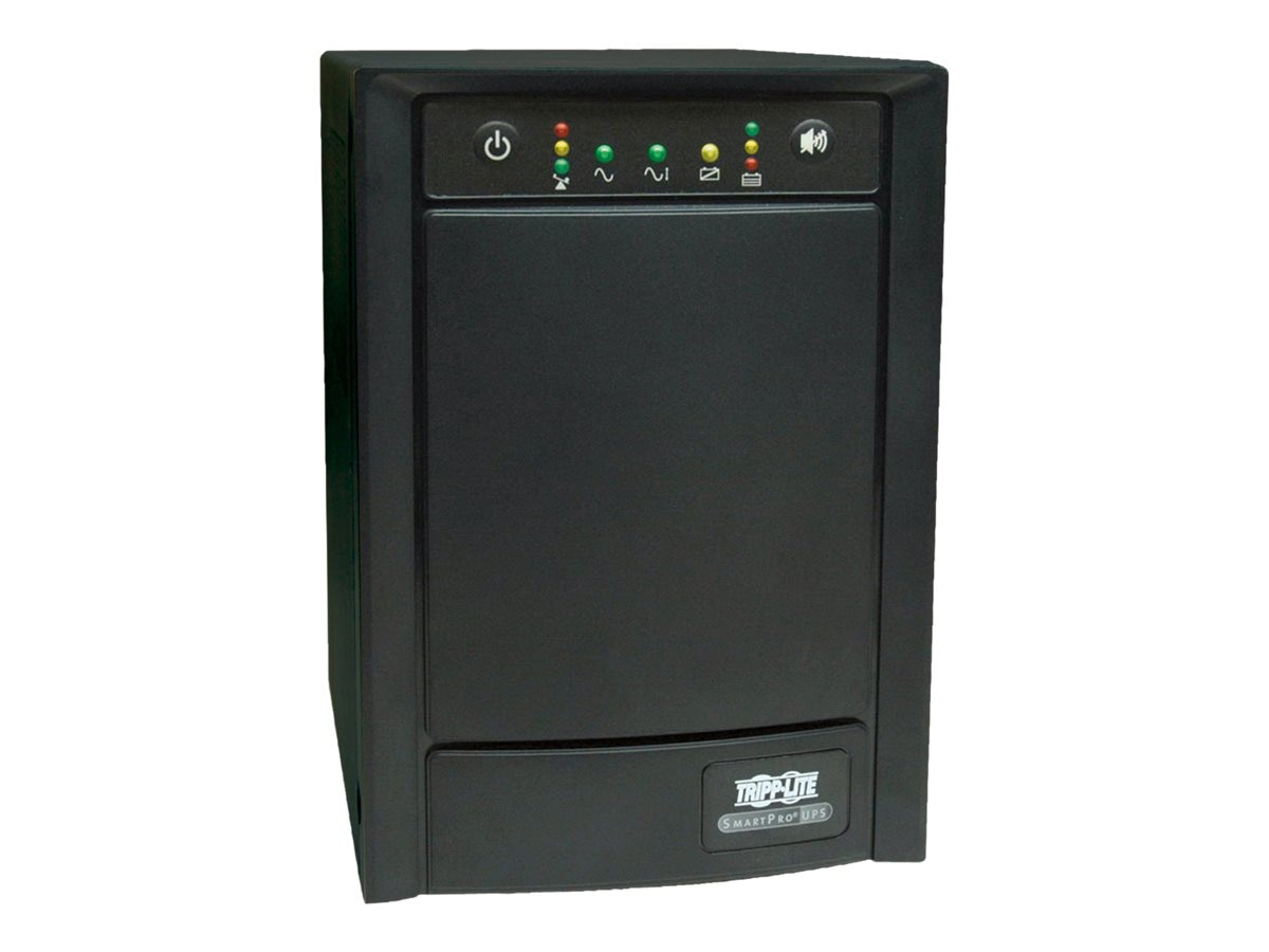 Tripp Lite SmartPro 1500VA Tower Line-Interactive UPS (8) Outlet with SNMP Slot, SMART1500SLT, 4822870, Battery Backup/UPS