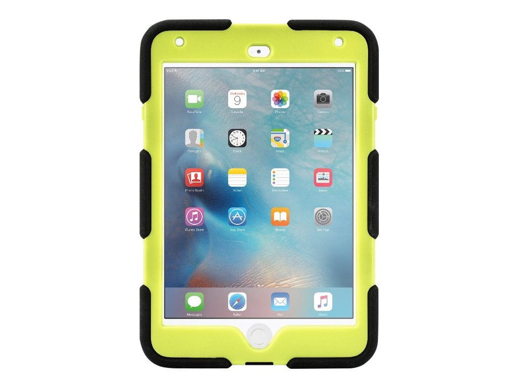 Griffin All-Terrain Military Duty Anti-Shock Case w  Stand for iPad mini 4, Citron