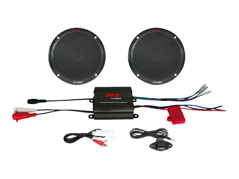 Pyle 2-Channel 400W Waterproof Micro Marine Amp 6.5 Speaker System