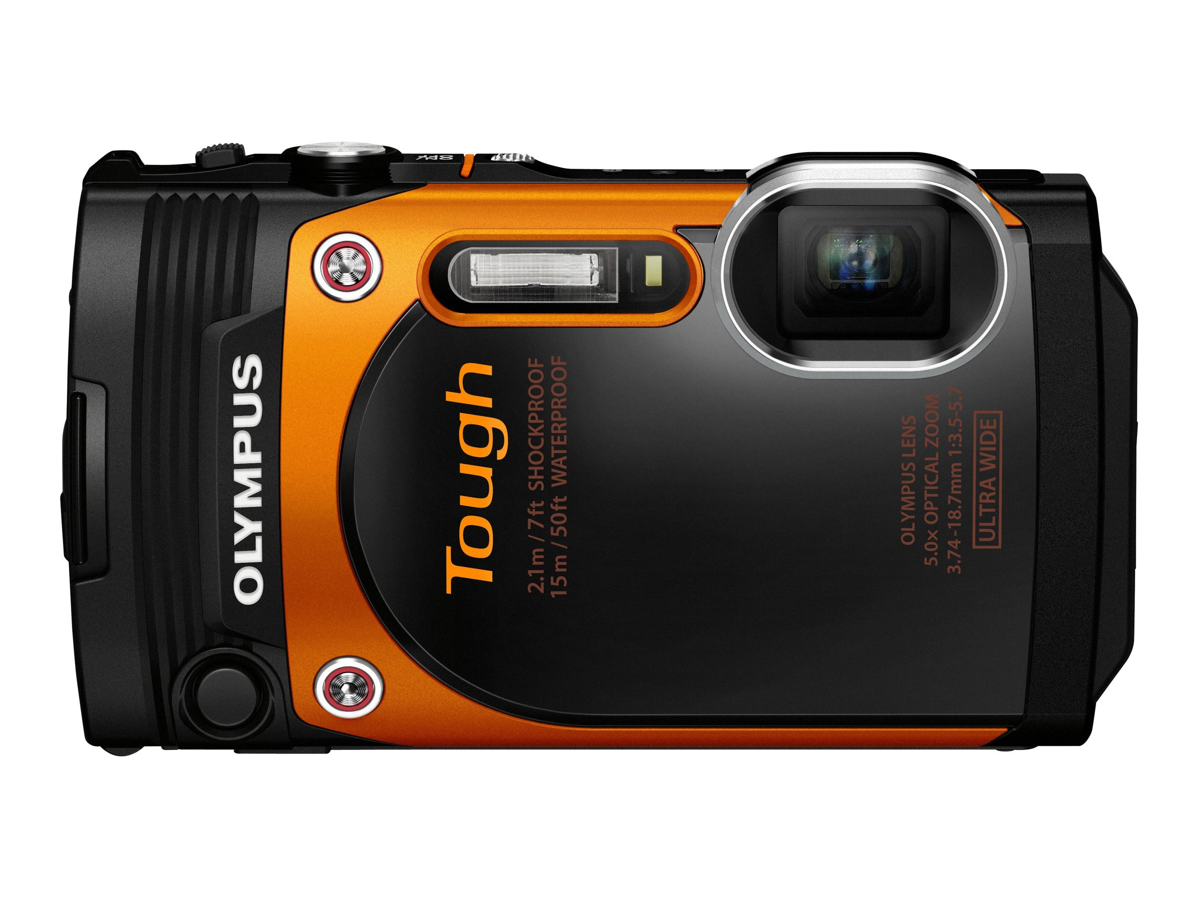 Olympus Stylus Tough TG-860 Digital Camera, 16 MP, Orange, V104170OU000, 18478221, Cameras - Digital - Point & Shoot