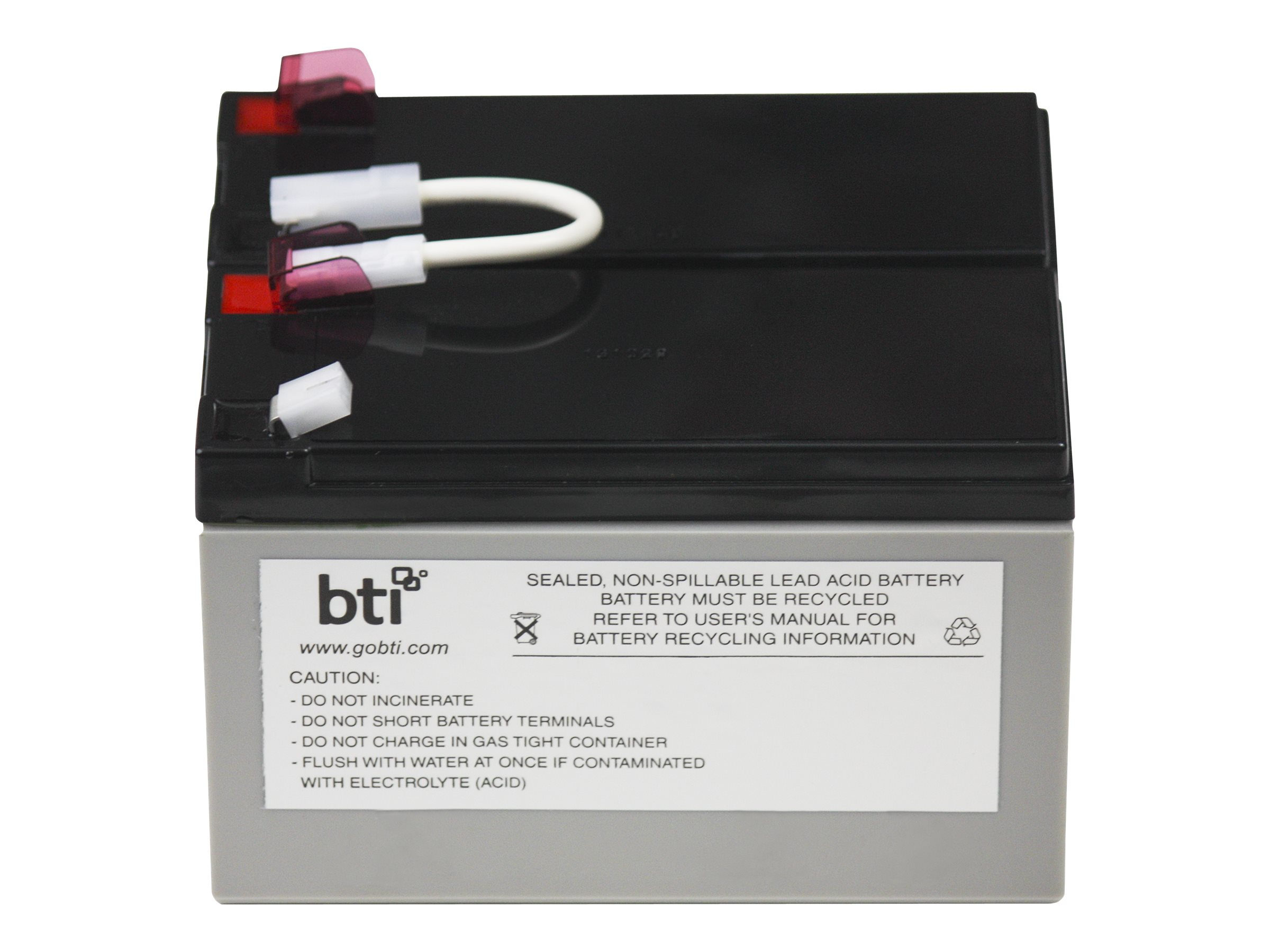 BTI Replacement Battery Cartridge APCRBC109 for BX1300LCD UPS, APCRBC109-SLA109, 13047625, Batteries - Other
