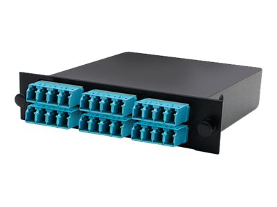ACP-EP Cassette For 3-Bay 1 Unit Panel w 2MPO IN 6LC QUAD OUT MMF OM3, ADD-3BAYC2MP6LCQM3, 18111059, Patch Panels
