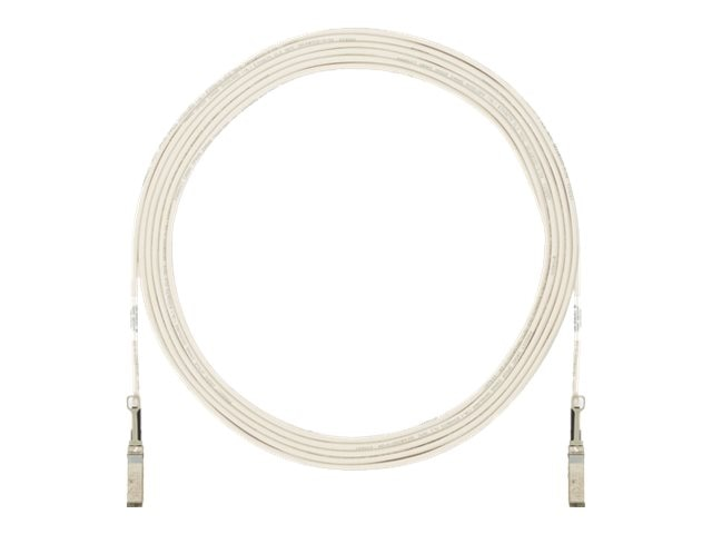 Panduit SFP+ to SFP+ Active Twinaxial Cable, White, 15m