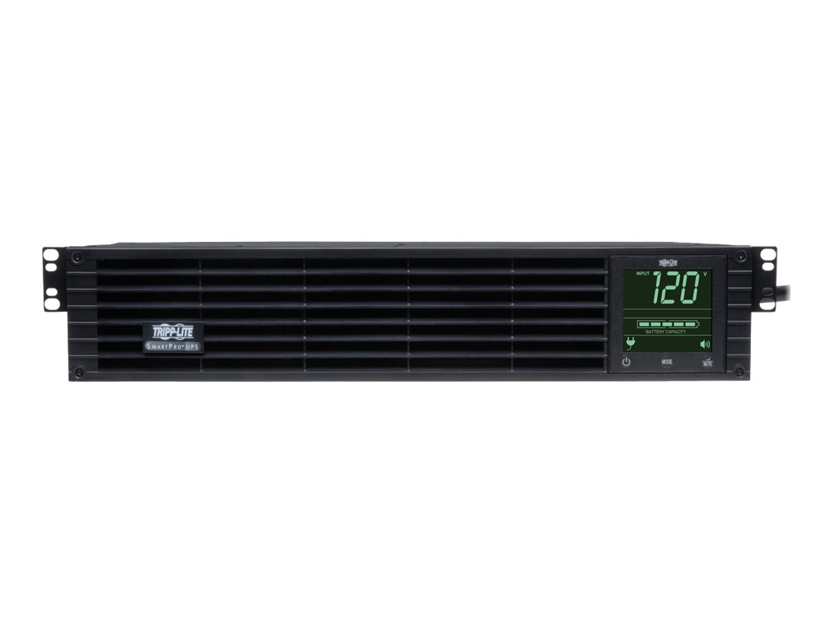 Tripp Lite SmartPro 3kVA 120V Line Interactive Extended Run LCD 2U UPS (9) Outlets, USB Serial EPO, TAA, SM3000RM2UTAA