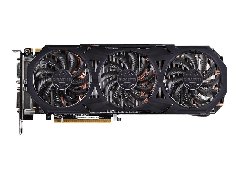 Gigabyte Tech GeForce GTX 960 PCIe 3.0 Overclocked Graphics Card, 4GB GDDR5, GV-N960G1 GAMING-4GD, 19801115, Graphics/Video Accelerators