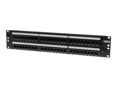 Tripp Lite 48-Port Patch Panel CAT5e 568B, N052-048, 4927938, Patch Panels