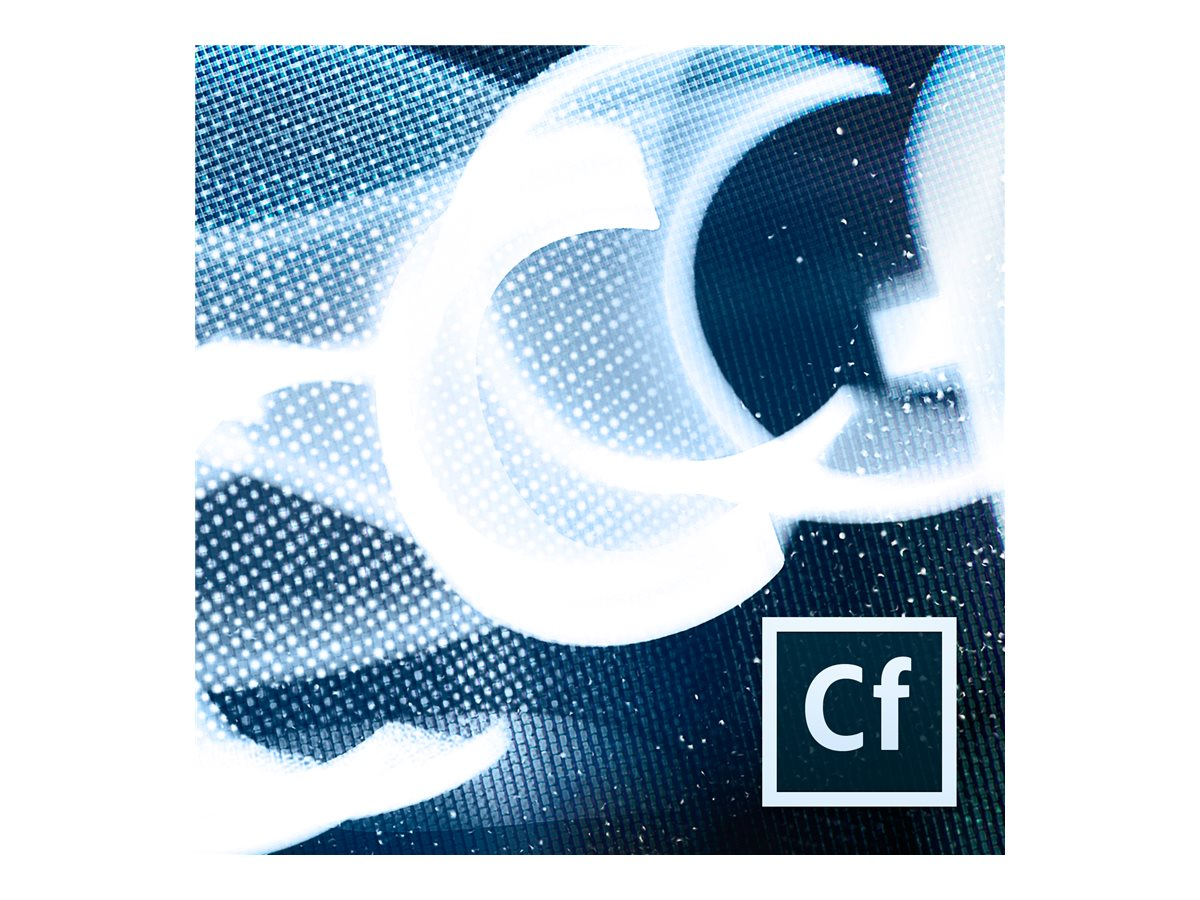 Adobe Govt. TLP ColdFusion Standard 2016 AOO License 2 Cores 1500pts, 65268314AF01A00