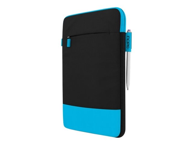 Incipio Asher Sleeve Premium Nylon Sleeve for 10 11 Devices, Black Cyan