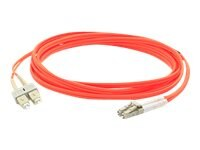 ACP-EP Multi-Mode Fiber Duplex SC LC OM1 Patch Cable, Orange, 4m
